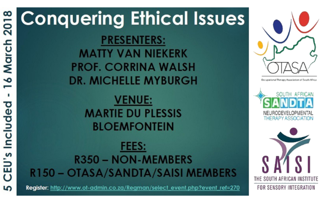 Conquering Ethics Workshop – 16 March 2018, Bloemfontein